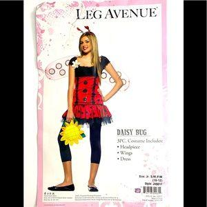 Leg Avenue Teen Girl Daisy Bug Costume Halloween Party Theme Animal S/M